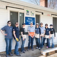 Employees participated in Habitat for Humanity Metro Maryland's Women Build 2018