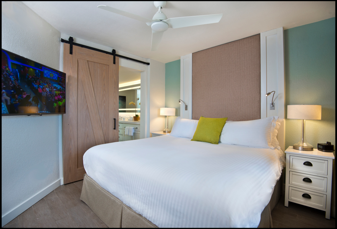 Master Bedroom at Beach House Suites